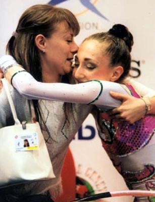 Elizabeth with her coach Stela Salapatyiska
