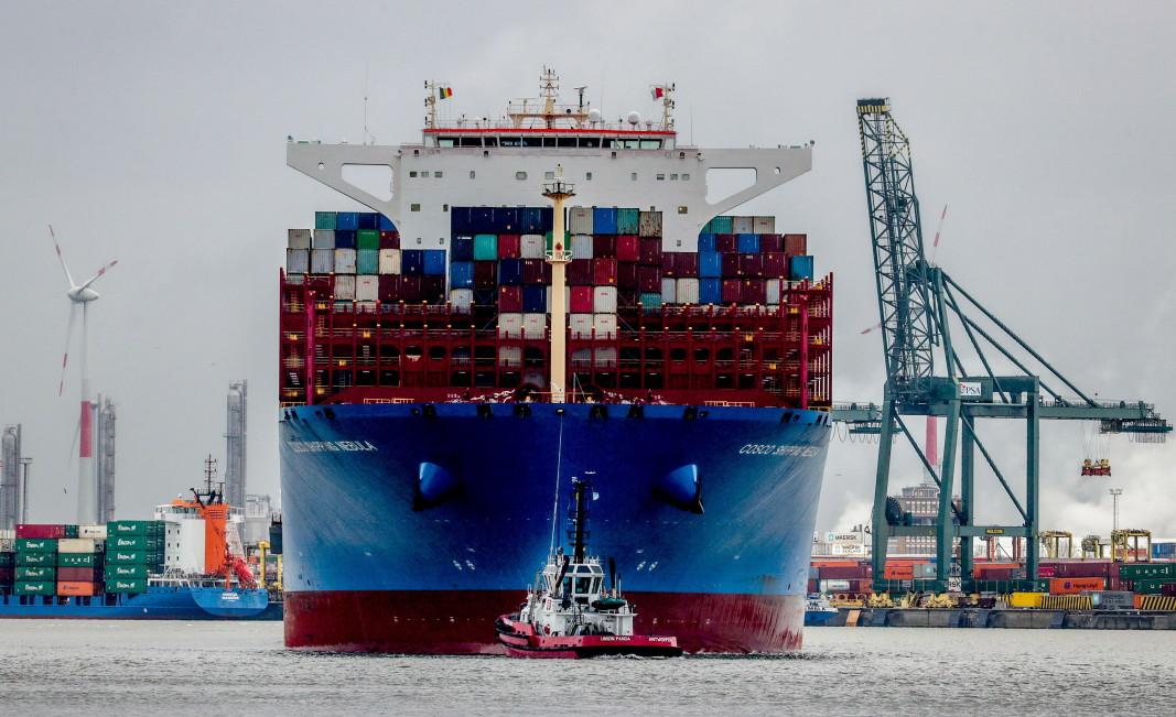 Белгийското пристанище Антверпен е основна входна точка за кокаин от Южна Америка.              Снимка: ЕПА/БГНЕС