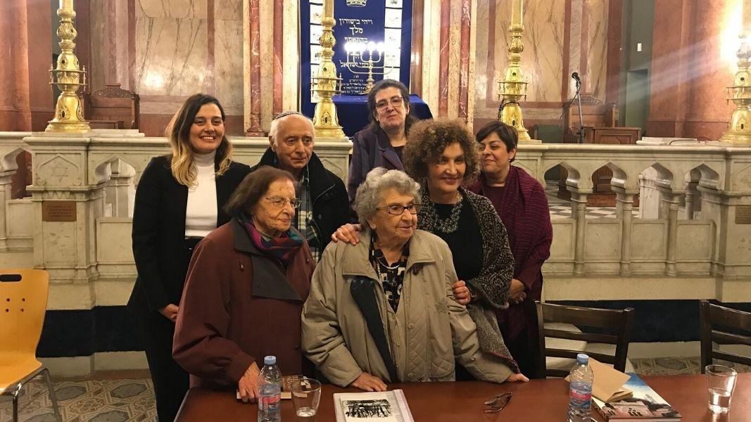 (Der. a izq) Mª Luisa Santos, directora del Instituto Cervantes de Sofia, Myriam Moscona, Liliana Tabakova, Sofi Danon, Leon Venatov, Viktoria Atanasova.