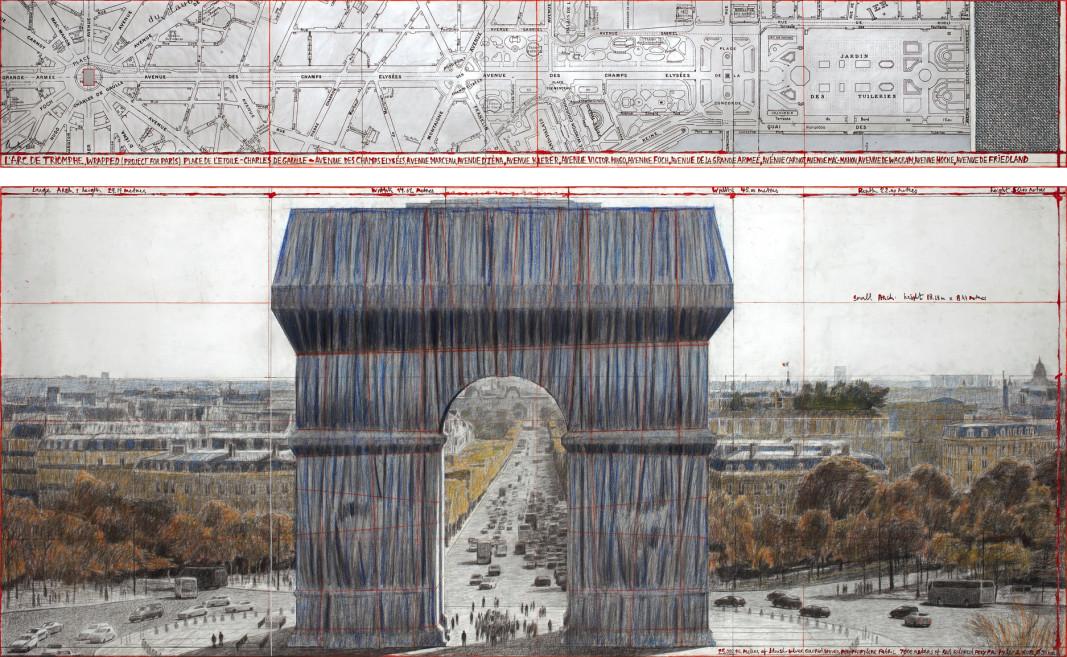 """""""Триумфалната арка, обвита"""" – проект на Кристо и Жан-Клод"""
