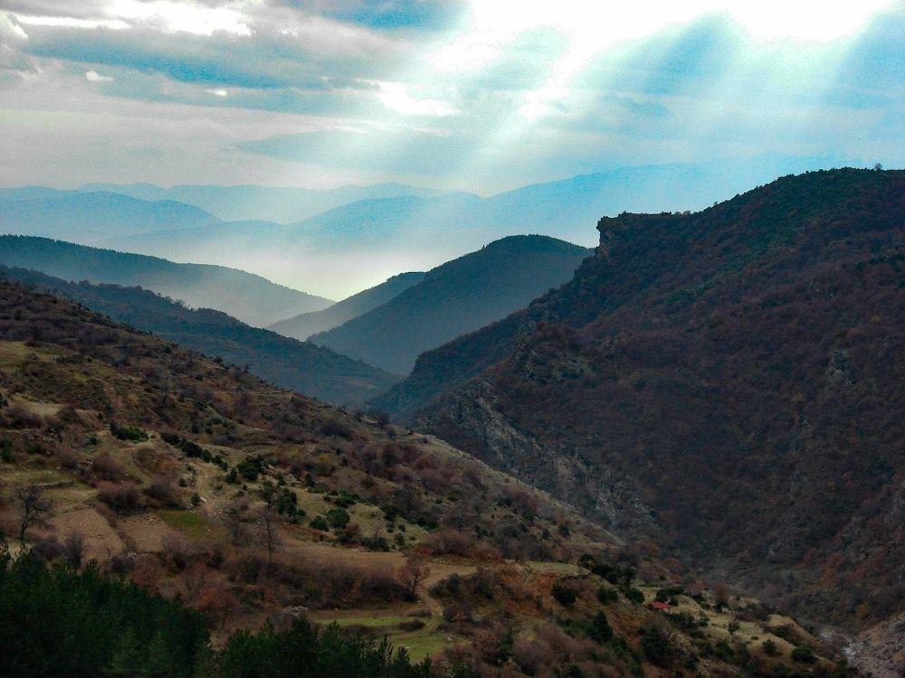Magníficas vistas en esta parte de los montes Ródope