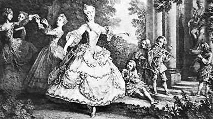 Балетът като отделно представление се появява в дворовете на италианските