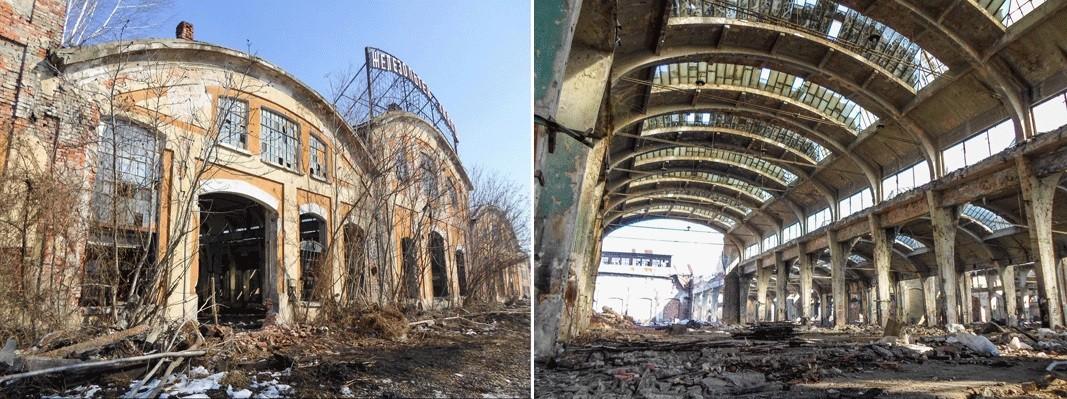 Железопътният завод в София, малко преди да бъде разрушен.  /  Снимки: @BGarch203040