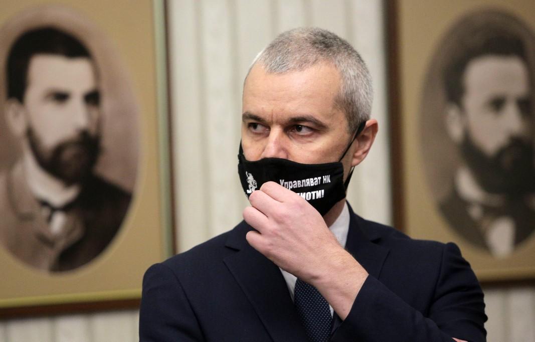 """Лидерът на """"Възраждане"""" Костадин Костадинов/БТА"""