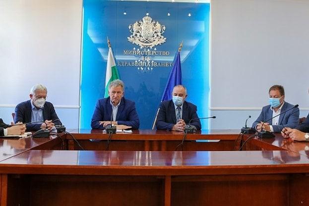 В Министерство на здравеопазването се проведе среща между министъра на здравеопазването д-р Стойчо Кацаров, ръководствата на Националната здравноосигурителна каса и на Българския лекарски съюз.