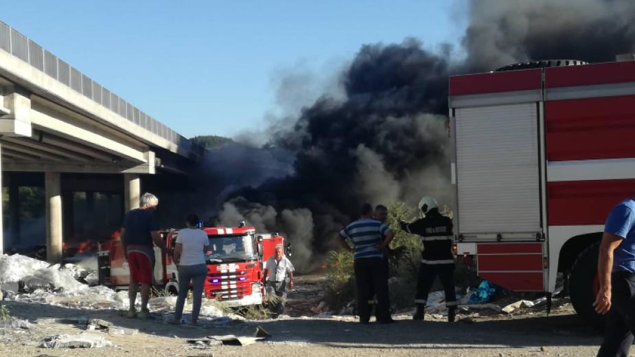 Частично бедствено положение в Дупница, магистрала