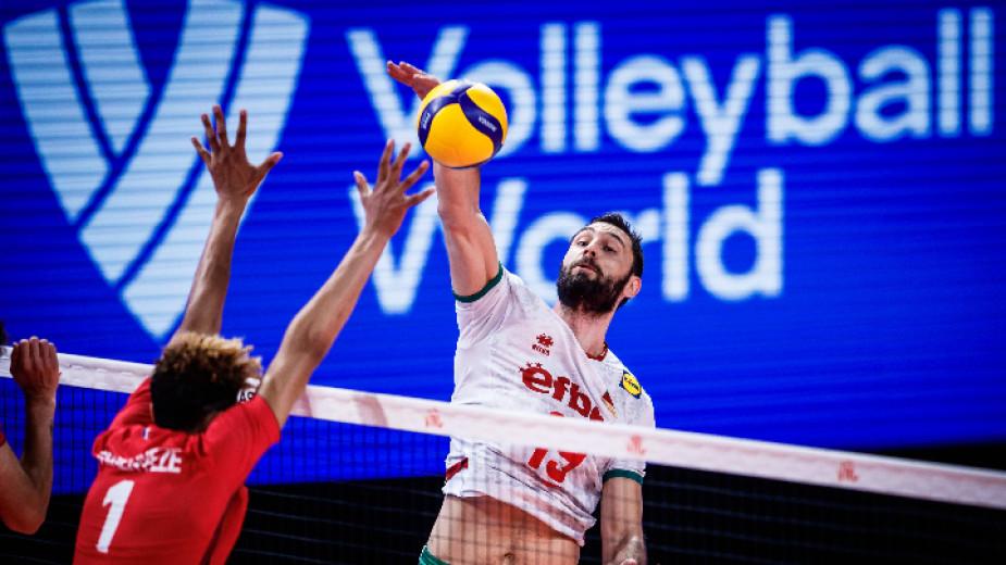 Националният отбор на България по волейбол за мъже записа загуба