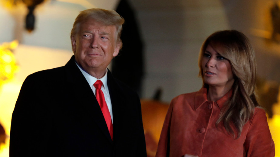 Президентът на САЩ Доналд Тръмп и първата дама Мелания Тръмп