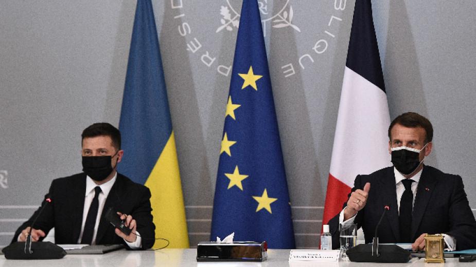Френският президент Еманюел Макрон прие на среща държавния глава на