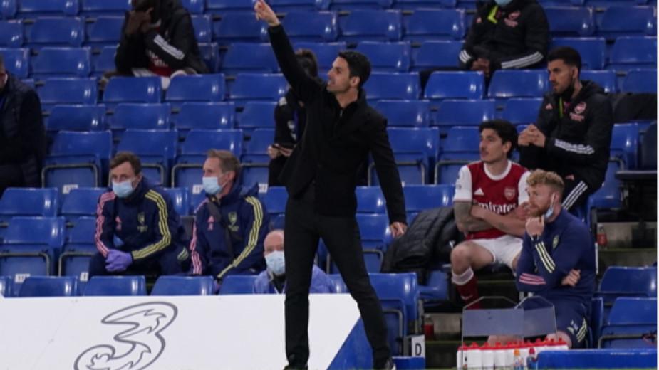 Мениджърът на Арсенал - Микел Артета, не бе в добро