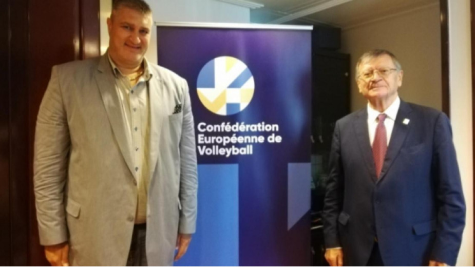 Президентът на Европейската конфедерация по волейбол CEV Александър Боричич пристигна