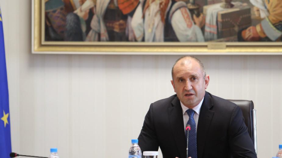 Президентът Румен Радев ще се срещне днес с представители на