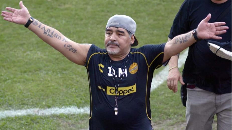 Работилият като помощник на легендата Диего Марадона в мексиканския Дорадос