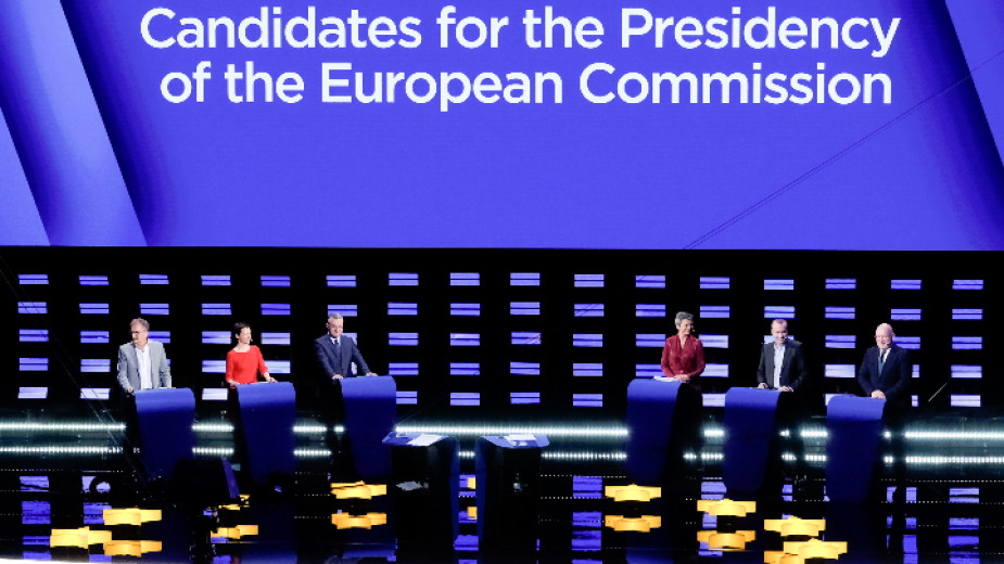 Оспорван предизборен дебат в Брюксел на водещите кандидати за председател на ЕК