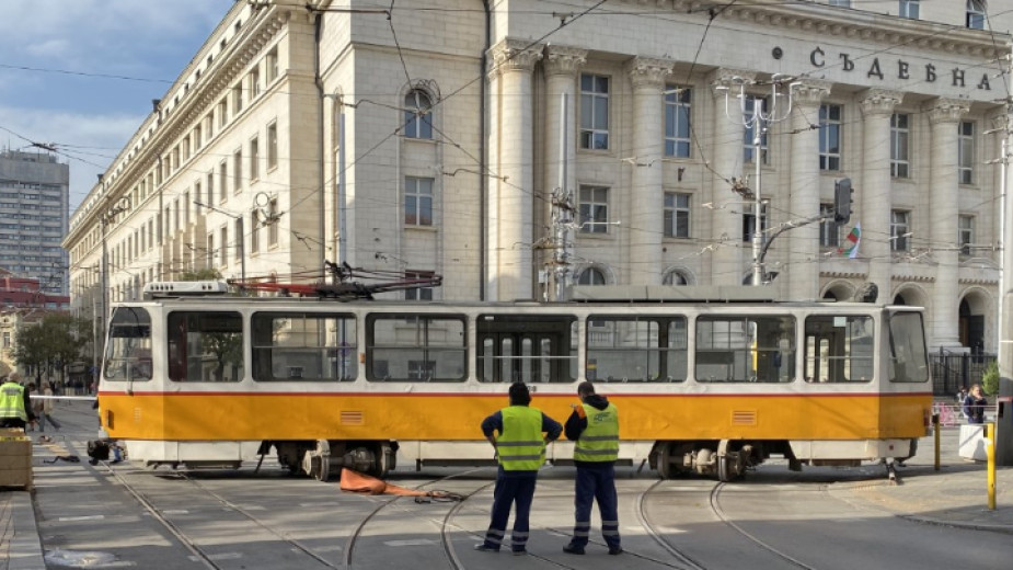 Резултат с изображение за трамвай съдебната палата