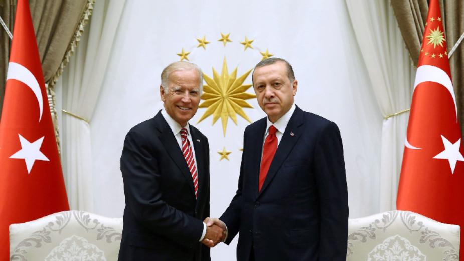 Президентът на САЩ Джо Байдън и турският лидер Тайип Ердоган