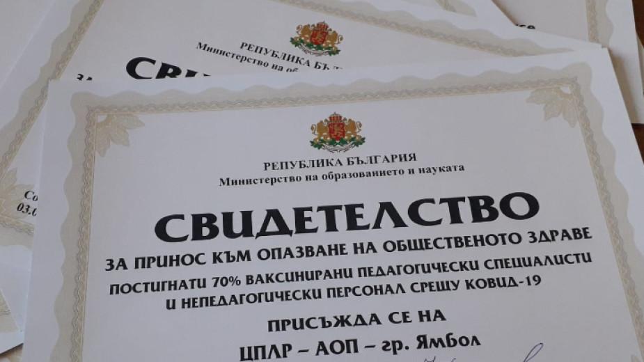 Свидетелства за поне 70 на сто ваксиниран срещу Covid-19 персонал