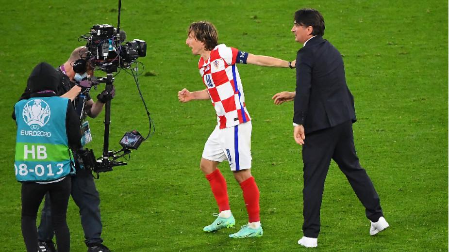 Капитанът на Хърватия Лука Модрич записа втори рекорд. Полузащитникът на