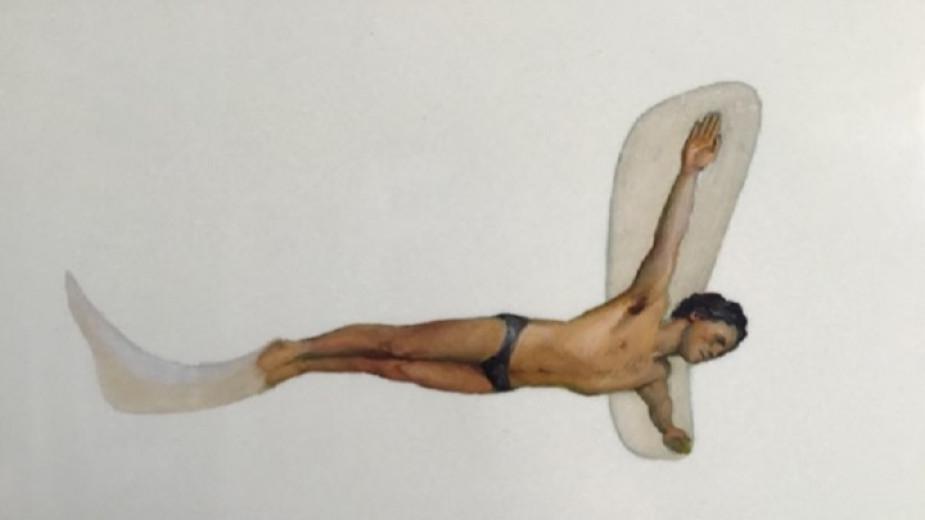 """Алцек Мишев препрочита творбите си и живописта в """"Най-новите малки картини на плувеца"""""""