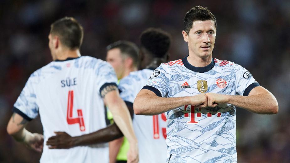 Байерн (Мюнхен) разгроми Барселона с 3:0 като гост в мач