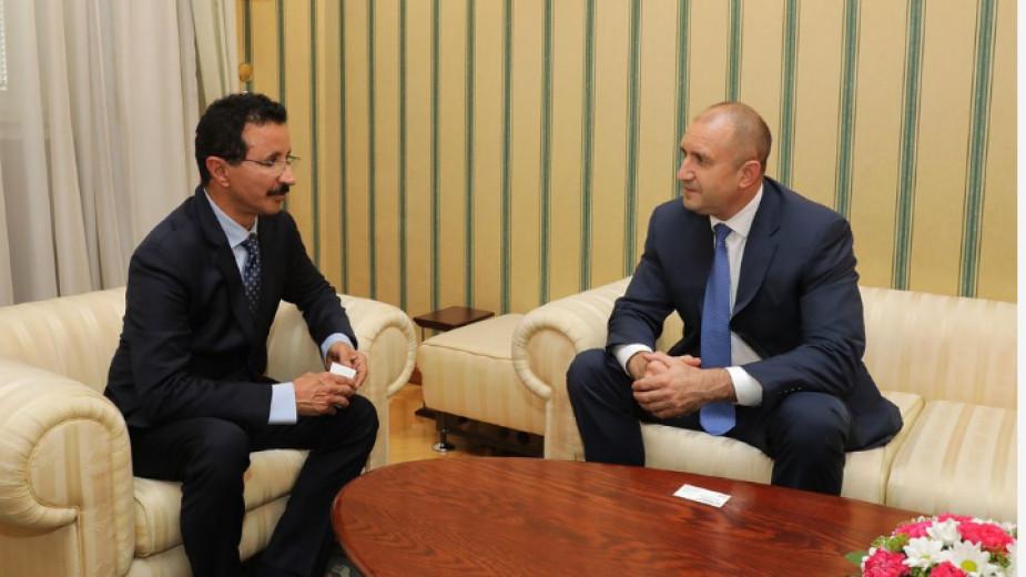 Президентът Радев разговаря с влиятелен бизнесмен от ОАЕ