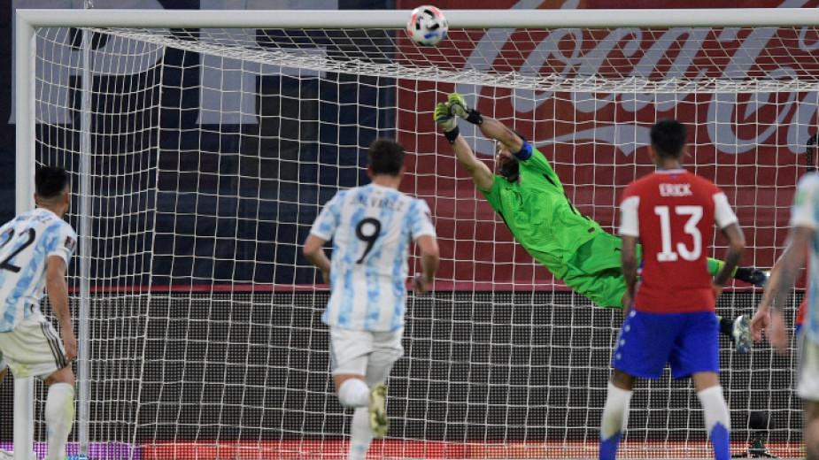 Аржентина и Чили завършиха 1:1 в световна квалификация, играна в