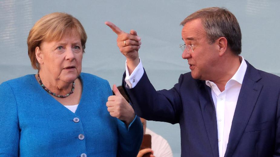 Ангела Меркел и Армин Лашет