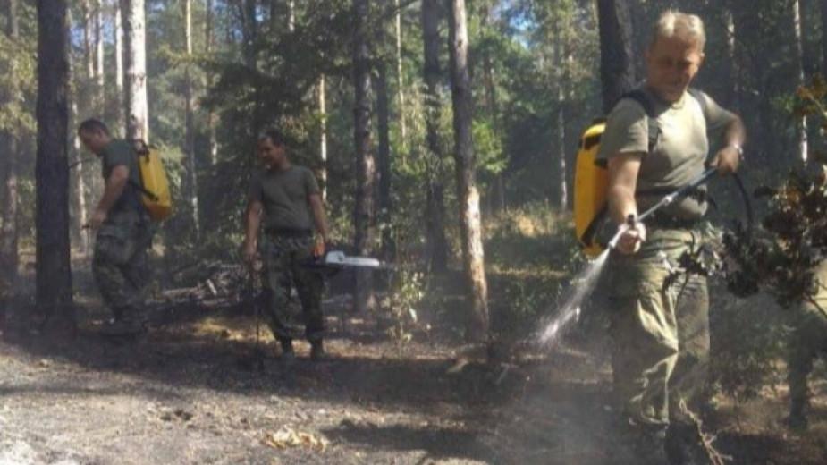 Хеликоптерът за гасене на пожари вече е спрял да облита