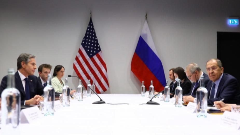 Руският външен министър Сергей Лавров и американският държавен секретар Антъни