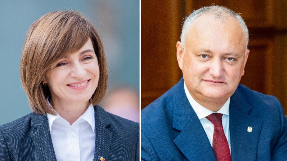 Съперниците - Мая Санду и Игор Додон.