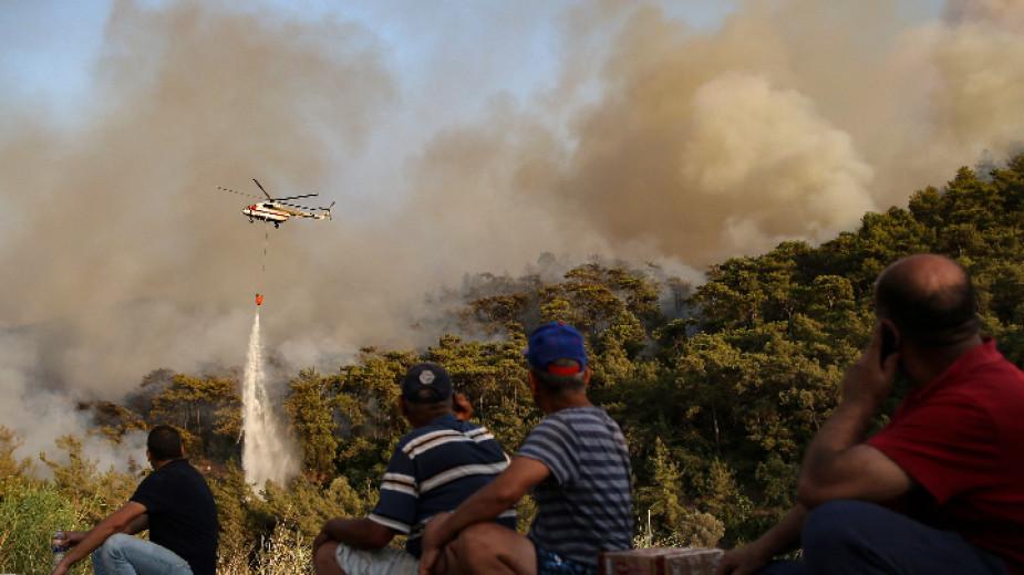 Чуждестранни лидери предлагат помощ на Турция заради мащабните горски пожари