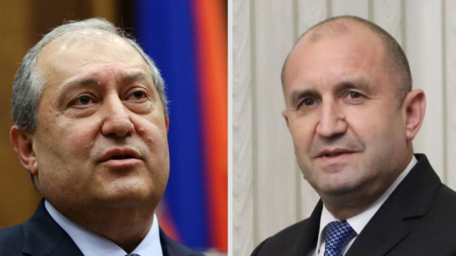 Президентът Румен Радев обсъди по телефона с колегата си Армен