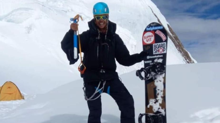 Резултат с изображение за Владимир Павлов е първият българин, спуснал се със сноуборд от осемхилядник
