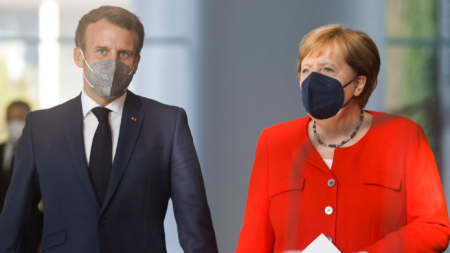 Германският канцлер Ангела Меркел и френският президент Еманюел Макрон призоваха