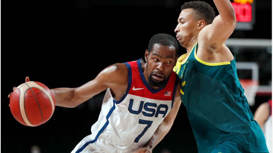 Отборът на Съединените щати победи Австралия с 97:78 (18:24, 24:21,