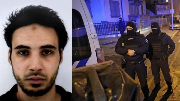 Френски спецчасти блокираха района на Страсбург, където бе застрелян Шериф Шекат (вляво).