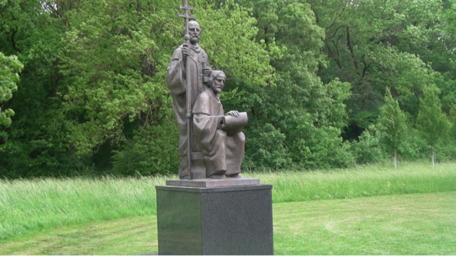 Le monument des saints frères Cyrille et Méthode à Mikulčice