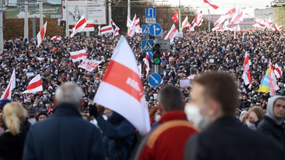 Пореден ден на протести в Минск, Беларус