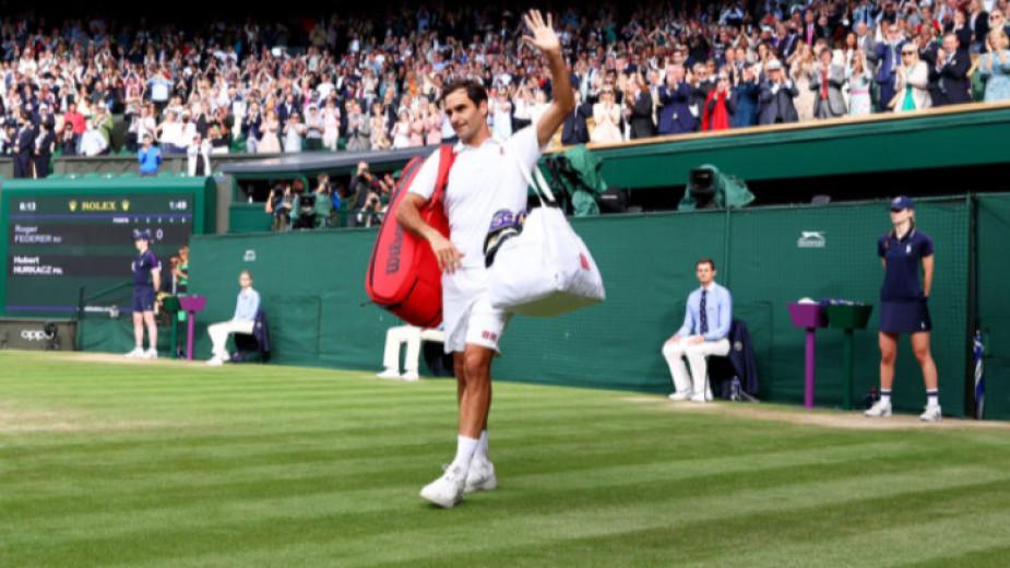 Роджър Федерер бе видимо разочарован на пресконференцията след четвъртфиналния двубой