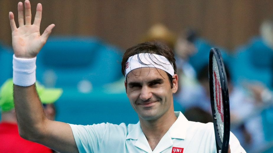 Федерер с лекота на осминафиналите в Маями