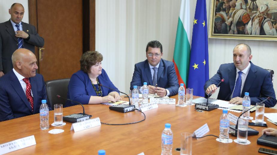 Румен Радев и представители на неправителствени организации обсъдиха избора на нов главен прокурор
