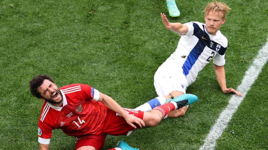 Русия си отдъхна след 1:0 над Финландия