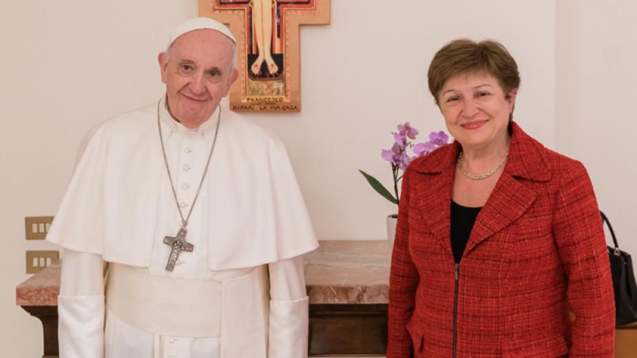 Управляващият директор на Международния валутен фонд Кристалина Георгиева се срещна