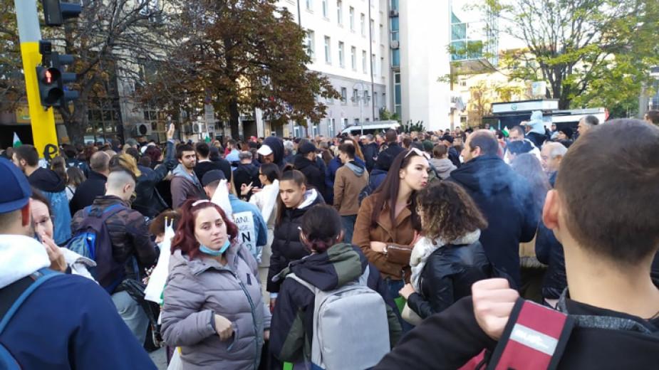 За втора поредна вечер в София се провежда протест срещу