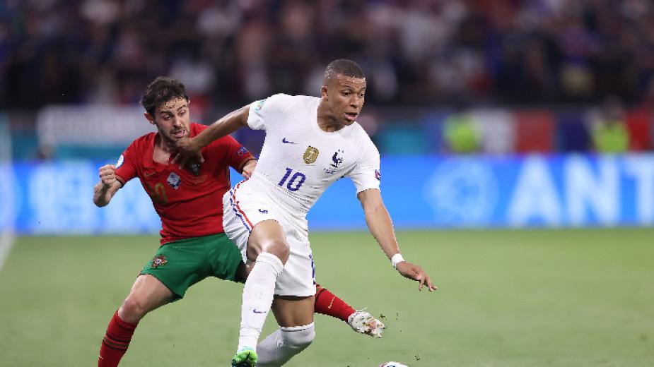 Футболистите на Португалия и Франция завършиха наравно 2:2 в последен
