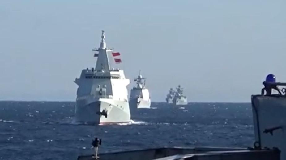 Руски и китайски бойни кораби за първи път са провели