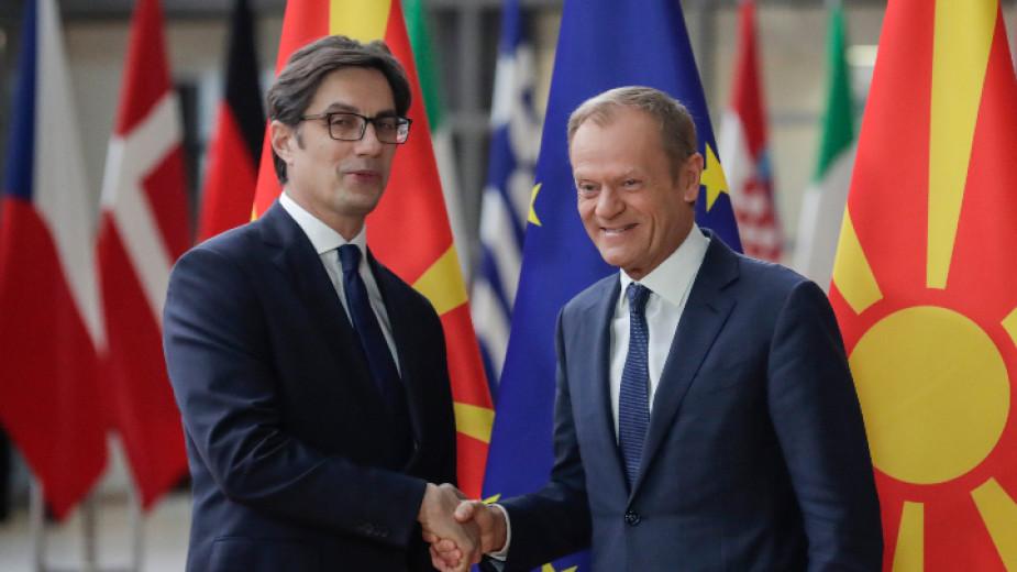 Туск: Не всички страни от ЕС са готови за преговори за членство на Северна Македония