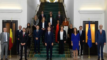 Новото правителство на Белгия положи клетва днес.