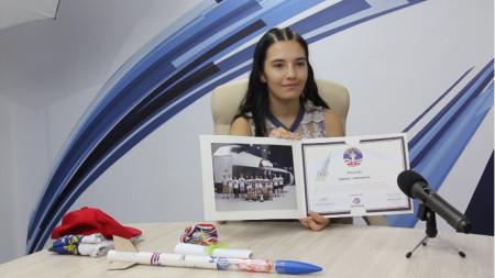 Симона Йорданова от Добрич получи медал от космическия тренировъчен център Space Camp Turkey