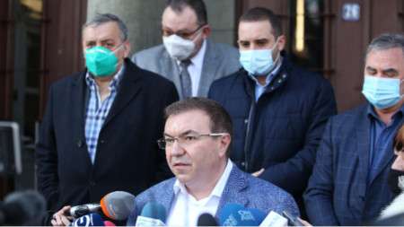 Health Minister Prof. Kostadin Angelov gave a briefing to announce a gradual easing of restrictions